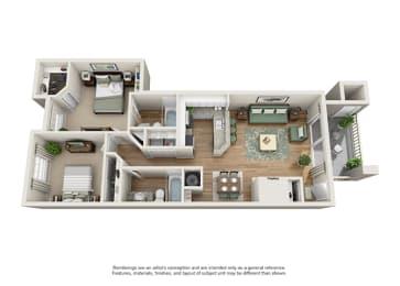 Verdant Apartment Homes - 2 Bedroom 2 Bath Apartment