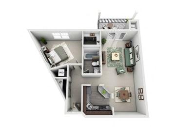 Meridian Pointe Apartment Homes - 1 Bedroom 1 Bath Apartment