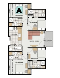 Floor Plan GT Individual Room A