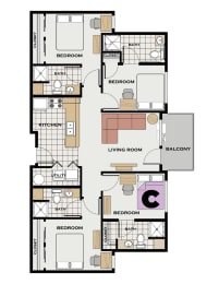 Floor Plan GT Individual Room C