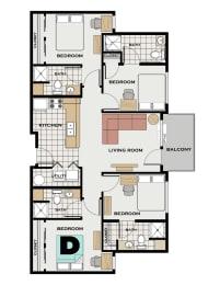 Floor Plan GT Individual Room D