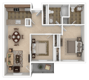 Floor Plan Tenth Two Bed Two Bath