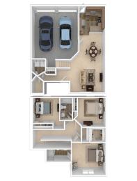 Floor Plan Northside Three Bed C