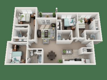 Floor Plan 4 Bedroom 4 Bathroom