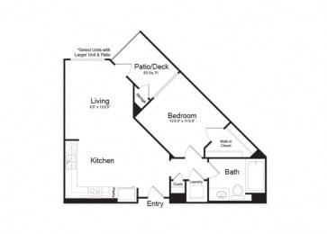 Clarendon Apartments Ventura 1 1x1 705sf