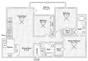 three bedroom apartments in 75305
