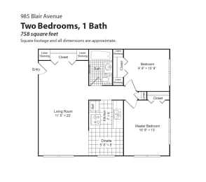 Blair Place floorplan