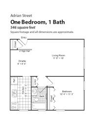Adrian Street Flats floorplan