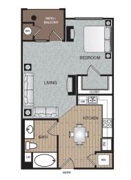 Mod Studio Floor Plan at The Enclave at Warner Center, 6710 Variel Ave, CA