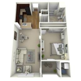 1 Bed 1 Bath The Boulevard Floor Plan at Meridian Place, California, 91324