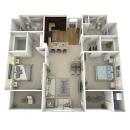 The Lane Floor Plan Layout at Meridian Place, Northridge, CA, 91324