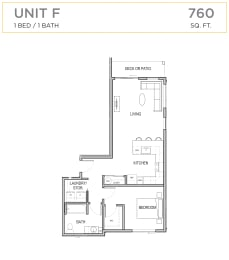 Ascend Maple Valley Apartments Unit F Floor Plan