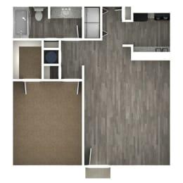 Floor Plan 1 Bedroom | 1 Bath B