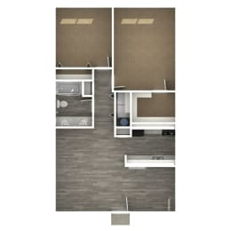 Floor Plan 2 Bedroom | 1 Bath A