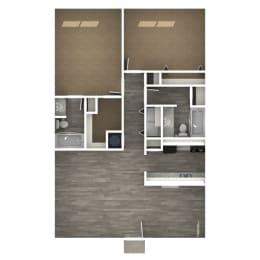 Floor Plan 2 Bedroom | 2 Bath C