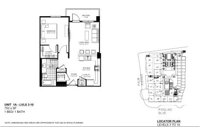 Floor Plan 1A