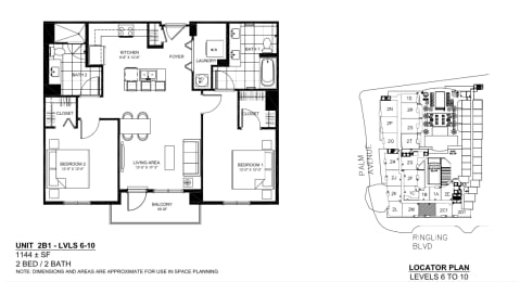 Floor Plan 2B1