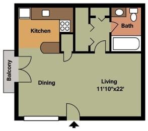 Floor Plan A1 |Studio