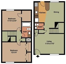 Floor Plan B2   Townhome