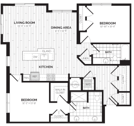B13 Floor Plan at Rivergate, Virginia, 22191
