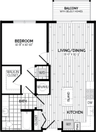 A1 Floor Plan at Rivergate, Woodbridge, VA, 22191