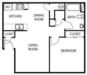 1X1 floor plans available at Vizcaya Apartments in Santa Maria, CA
