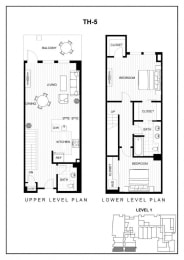 BLU Bellevue Apartments TH 5 Floor Plan