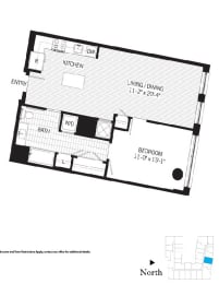 Floor Plan Franklin a08m (Income Restricted)