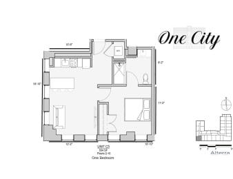 One City C3 Floor Plan