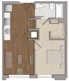 A8 Floor Plan at The George, Wheaton