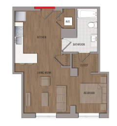 S6 Floor Plan at The George, Wheaton