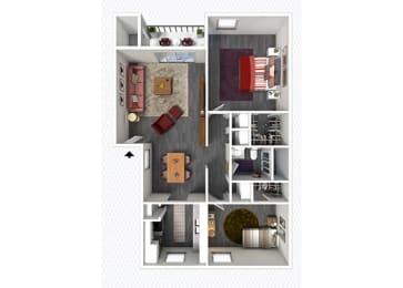 B1 Floor Plan at The Alara, Texas, 77060
