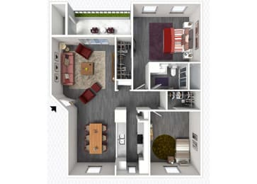 B2 Floor Plan at The Alara, Texas