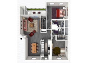 B6 Floor Plan at The Alara, Houston, TX