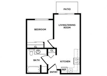 Floor Plan  A1 at Lakewood Meadows Apartments in Lakewood WA