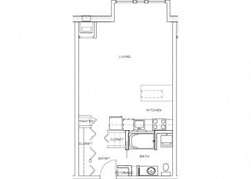 Eitel Apartments A1 Studio floor plan