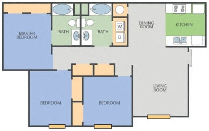 Floor Plan Yellow