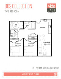 Floor Plan Dos Collection (Two Bedroom, B7)
