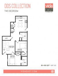 Floor Plan Dos Collection (Two Bedroom, B8)