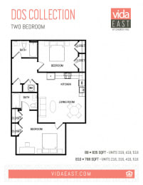 Floor Plan Dos Collection (Two Bedroom ,B9, B10)