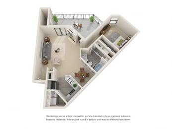 A5_Floor plan in apartments near houston tx
