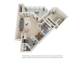 A7_Floor plan in apartments near houston tx