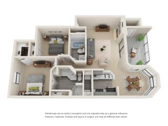 B2_Floor plan in apartments near houston tx