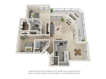 B6_Floor plan in apartments near houston tx