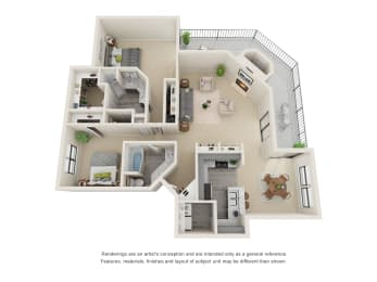 B7_Floor plan in apartments near houston tx