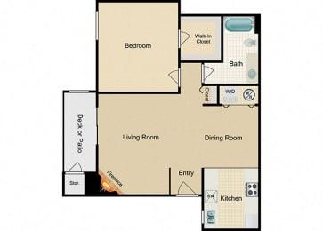 Fraser One bedroom One bathroom