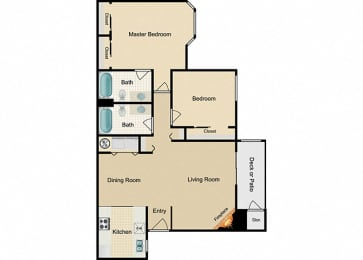 Noble Two bedroom Two bathroom
