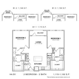Floor Plan HA.B1