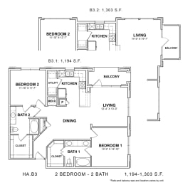 Floor Plan HA.B3