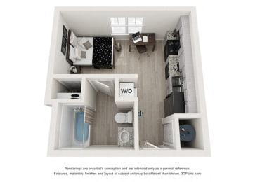 1 Bathroom Floor Plan at Rivers Walk, Boone, North Carolina
